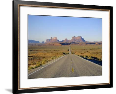 Road to Monument Valley, Navajo Reserve, Utah, USA-Adina Tovy-Framed Art Print