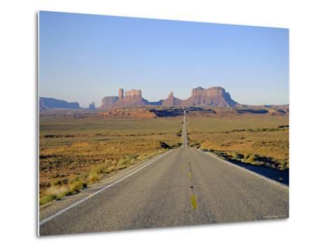 Road to Monument Valley, Navajo Reserve, Utah, USA-Adina Tovy-Metal Print