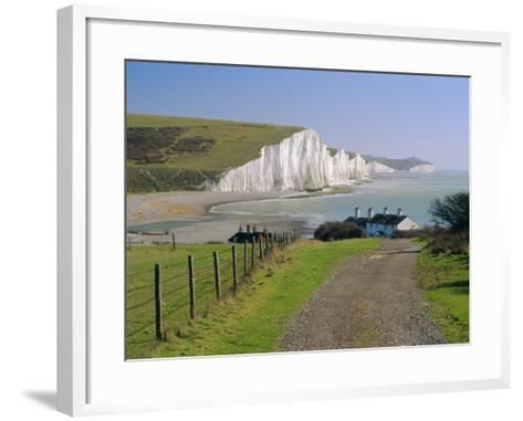 View to the Seven Sisters from Seaford Head, East Sussex, England, UK-Ruth Tomlinson-Framed Art Print