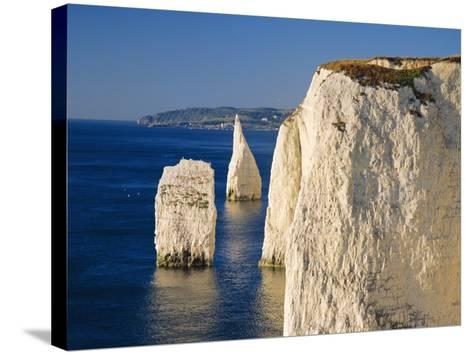 Handfast Point, Clifftop View Showing the Pinnacles, Early Morning, Studland, Dorset, England-Ruth Tomlinson-Stretched Canvas Print