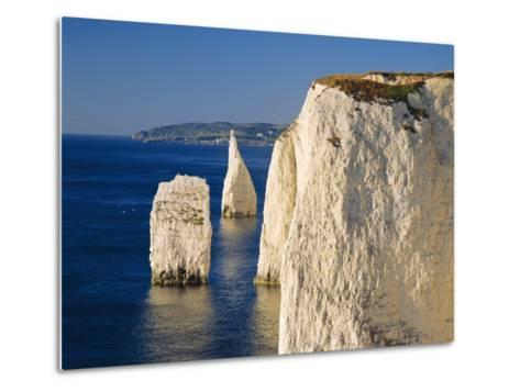 Handfast Point, Clifftop View Showing the Pinnacles, Early Morning, Studland, Dorset, England-Ruth Tomlinson-Metal Print