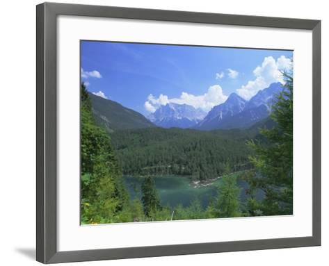 View to the Zugspitze Across the Fernsteinsee, Tirol (Tyrol), Austria, Europe-Ruth Tomlinson-Framed Art Print