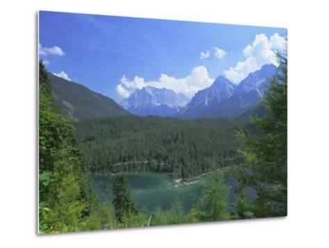 View to the Zugspitze Across the Fernsteinsee, Tirol (Tyrol), Austria, Europe-Ruth Tomlinson-Metal Print