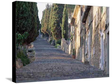Cobbled Steps Leading to the Calvary, Pollensa, Mallorca (Majorca), Balearic Islands, Spain, Europe-Ruth Tomlinson-Stretched Canvas Print