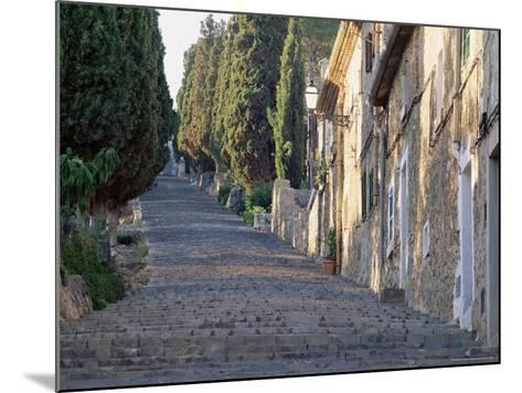 Cobbled Steps Leading to the Calvary, Pollensa, Mallorca (Majorca), Balearic Islands, Spain, Europe-Ruth Tomlinson-Mounted Photographic Print