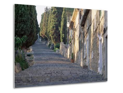 Cobbled Steps Leading to the Calvary, Pollensa, Mallorca (Majorca), Balearic Islands, Spain, Europe-Ruth Tomlinson-Metal Print