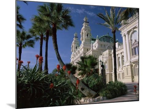The Casino from the South Terrace, Palms and Flowers in Foreground, Monte Carlo, Monaco, Europe-Ruth Tomlinson-Mounted Photographic Print