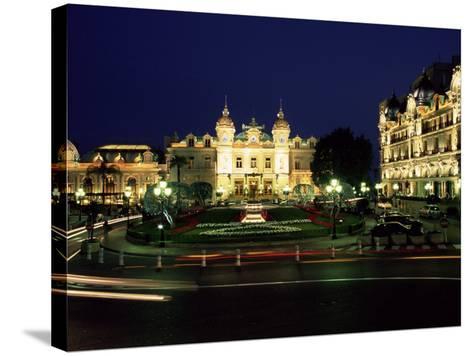 The Casino and Hotel De Paris by Night, Monte Carlo, Monaco-Ruth Tomlinson-Stretched Canvas Print