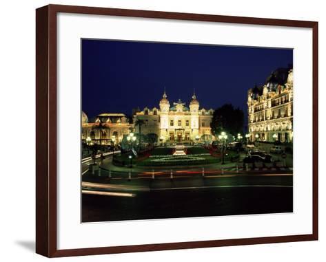 The Casino and Hotel De Paris by Night, Monte Carlo, Monaco-Ruth Tomlinson-Framed Art Print