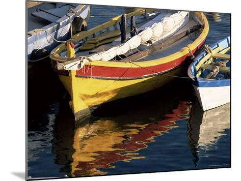 Colourful Boats Reflected in the Water of the Harbour, Sete, Herault, Languedoc-Roussillon, France-Ruth Tomlinson-Mounted Photographic Print