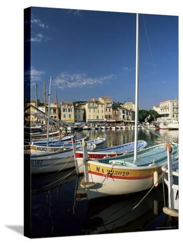 View Across the Harbour in the Evening, Cassis, Bouches-Du-Rhone, Provence, France, Mediterranean-Ruth Tomlinson-Stretched Canvas Print