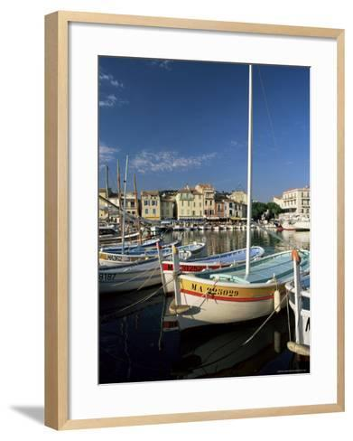 View Across the Harbour in the Evening, Cassis, Bouches-Du-Rhone, Provence, France, Mediterranean-Ruth Tomlinson-Framed Art Print