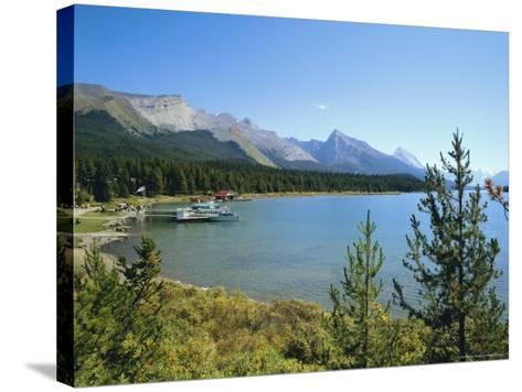 Maligne Lake, Jasper National Park, Rocky Mountains, Alberta, Canada-Hans Peter Merten-Stretched Canvas Print