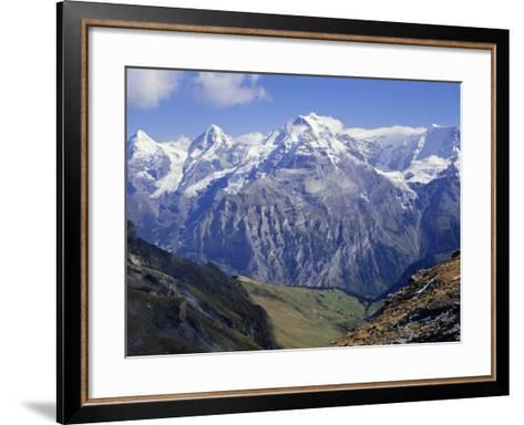 Eiger, Monch, Jungfrau Mountains, Bernese Oberland, Swiss Alps, Switzerland, Europe-Andrew Sanders-Framed Art Print