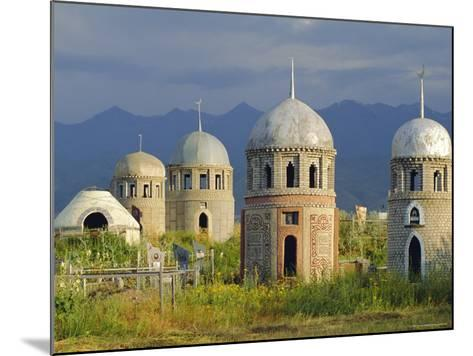 Traditional Kirghiz Cemetary, Near Burana Tower, Kyrgyzstan, Central Asia-Upperhall Ltd-Mounted Photographic Print