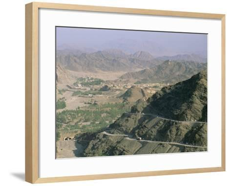 View into Afghanistan from the Khyber Pass, North West Frontier Province, Pakistan, Asia-Upperhall Ltd-Framed Art Print