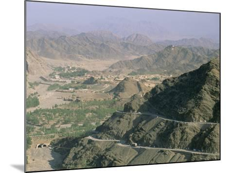 View into Afghanistan from the Khyber Pass, North West Frontier Province, Pakistan, Asia-Upperhall Ltd-Mounted Photographic Print