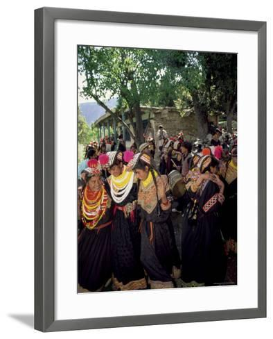 Kalash Women, Rites of Spring, Joshi, Bumburet Valley, Pakistan, Asia-Upperhall Ltd-Framed Art Print