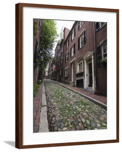 Acorn Street, Beacon Hill, Boston, Massachusetts, USA-Amanda Hall-Framed Art Print