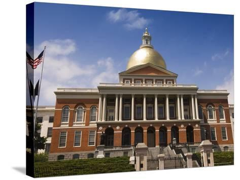 The Massachusetts State House, 1798, Designed by Charles Bulfinch, Boston, Massachusetts, USA-Amanda Hall-Stretched Canvas Print