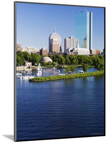 The John Hancock Tower and City Skyline Across the Charles River, Boston, Massachusetts, USA-Amanda Hall-Mounted Photographic Print