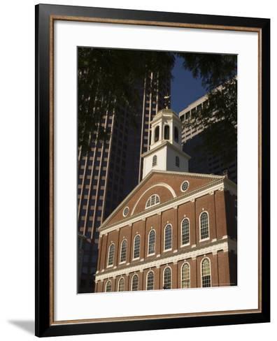 Faneuil Hall, Boston, Massachusetts, USA-Amanda Hall-Framed Art Print