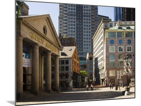 Quincy Market by Faneuil Hall, Boston, Massachusetts, USA-Amanda Hall-Mounted Photographic Print