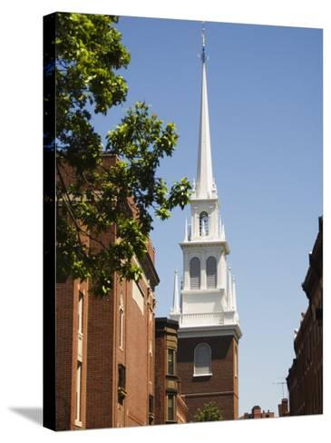 Old North Church, North End, Boston, Massachusetts, USA-Amanda Hall-Stretched Canvas Print