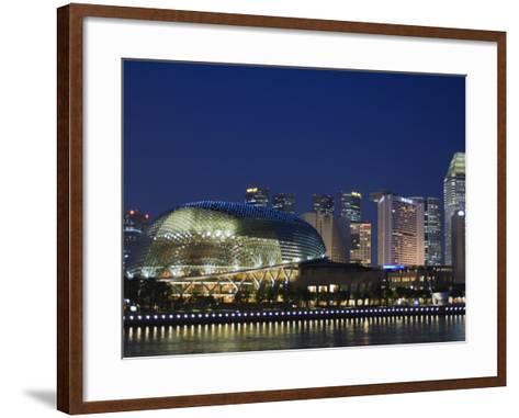 Esplanade Theatres on the Bay, Singapore, Southeast Asia, Asia-Amanda Hall-Framed Art Print