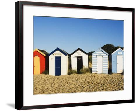 Beach Huts, Southwold, Suffolk, England, United Kingdom, Europe-Amanda Hall-Framed Art Print