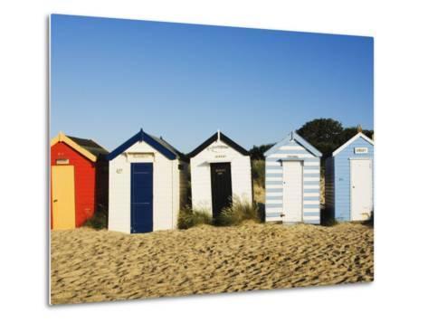 Beach Huts, Southwold, Suffolk, England, United Kingdom, Europe-Amanda Hall-Metal Print