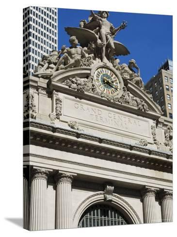 Grand Central Station Terminal Building, 42nd Street, Manhattan, New York City, New York, USA-Amanda Hall-Stretched Canvas Print
