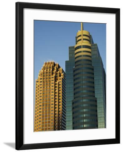 Modern Buildings, Jersey City, New Jersey, United States of America, North America-Amanda Hall-Framed Art Print