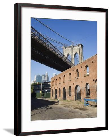 Derelict Warehouses Under Brooklyn Bridge, Brooklyn, New York City, New York, USA-Amanda Hall-Framed Art Print