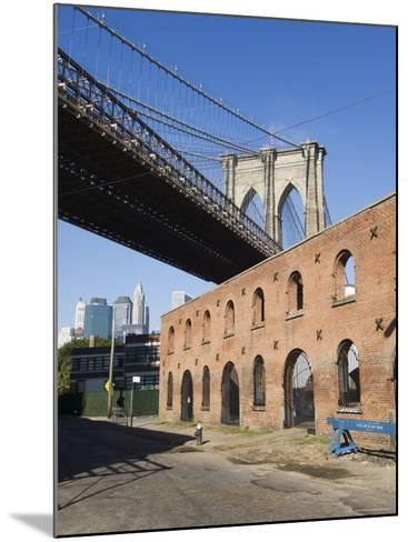 Derelict Warehouses Under Brooklyn Bridge, Brooklyn, New York City, New York, USA-Amanda Hall-Mounted Photographic Print