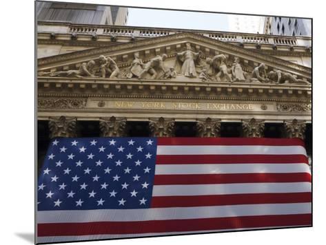 The New York Stock Exchange, Wall Street, Manhattan, New York City, New York, USA-Amanda Hall-Mounted Photographic Print