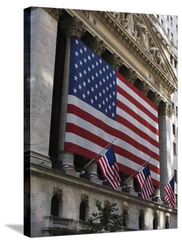 The New York Stock Exchange, Wall Street, Manhattan, New York City, New York, USA-Amanda Hall-Stretched Canvas Print