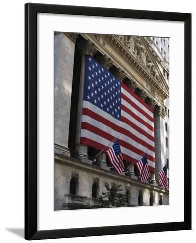 The New York Stock Exchange, Wall Street, Manhattan, New York City, New York, USA-Amanda Hall-Framed Art Print