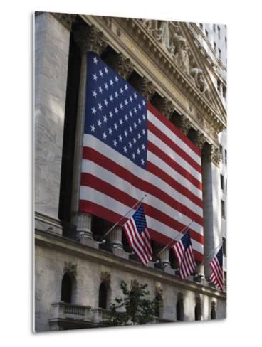The New York Stock Exchange, Wall Street, Manhattan, New York City, New York, USA-Amanda Hall-Metal Print
