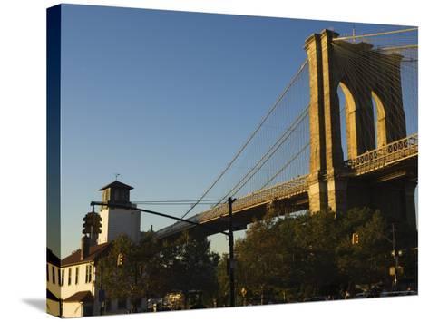 Brooklyn Bridge, New York City, New York, United States of America, North America-Amanda Hall-Stretched Canvas Print