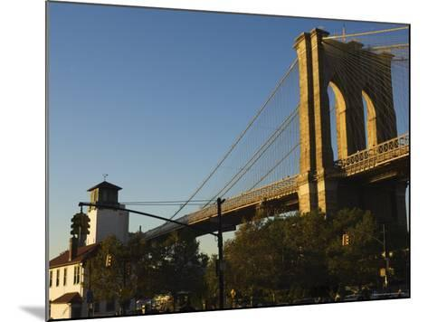 Brooklyn Bridge, New York City, New York, United States of America, North America-Amanda Hall-Mounted Photographic Print