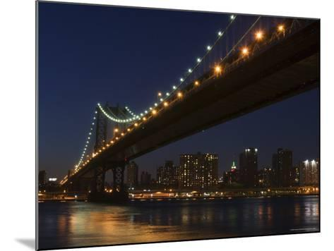 Manhattan Bridge at Dusk, New York City, New York, United States of America, North America-Amanda Hall-Mounted Photographic Print