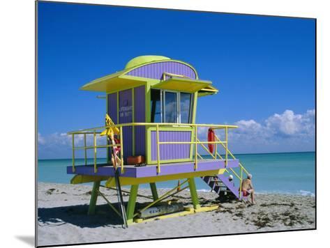 Lifeguard Station, South Beach, Miami Beach, Florida, USA-Amanda Hall-Mounted Photographic Print