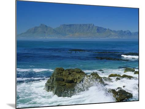Table Mountain Viewed from Robben Island, Cape Town, South Africa-Amanda Hall-Mounted Photographic Print