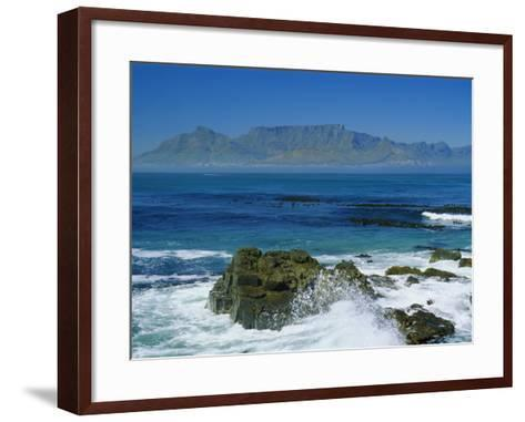 Table Mountain Viewed from Robben Island, Cape Town, South Africa-Amanda Hall-Framed Art Print