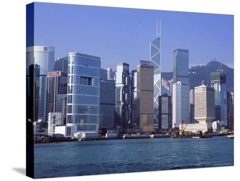 Hong Kong Island Skyline from Victoria Harbour, Hong Kong, China, Asia-Amanda Hall-Stretched Canvas Print