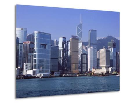 Hong Kong Island Skyline from Victoria Harbour, Hong Kong, China, Asia-Amanda Hall-Metal Print