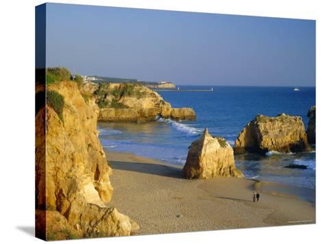 Praia De Rocha, Western Algarve, Portugal, Europe-Amanda Hall-Stretched Canvas Print