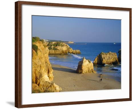Praia De Rocha, Western Algarve, Portugal, Europe-Amanda Hall-Framed Art Print