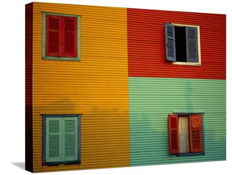 Colourful Buildings in La Boca District, Buenos Aires, Argentina-Louise Murray-Stretched Canvas Print